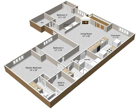 3 One-Bedroom Apartments With Floor Plans : 1, 2 & 3 Bedroom Apartment Homes For Rent