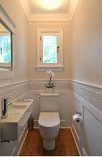 Tiny Powder Room Sinks by Small Bathroom Good Wainscoting With Tile Detail