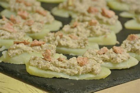 dip de chignons au foie gras sur canap 233 de pomme de terre dans la cuisine de fabienne