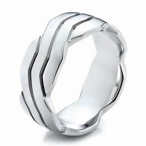 men39s contemporary woven wedding band 100122 With woven wedding ring