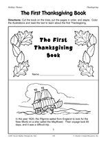 printable the thanksgiving book by teachervision facts about the thanksgiving are