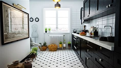 black and white kitchen floors scandinavian kitchens ideas inspiration 7855