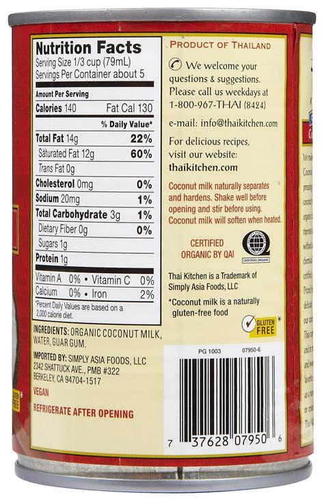 thai kitchen organic coconut milk ingredients substitutions coconut milk vs cow milk in recipes 9458