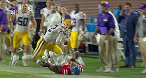 LSU39s Kevin Toliver II Made One Of The Best Interceptions
