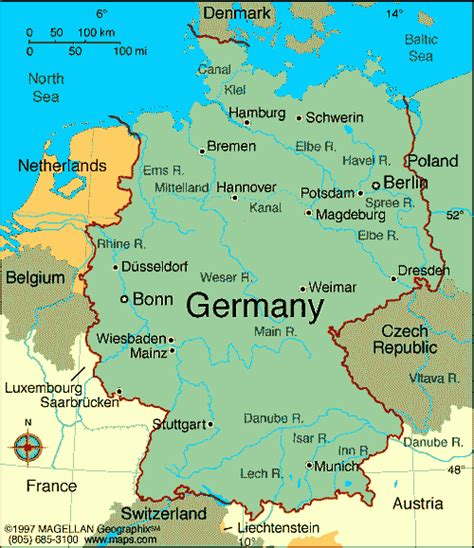 map  germany  cities map  germany showing