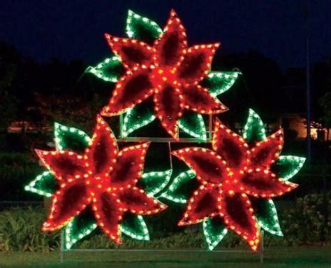 how to make a christmas yard poinsettia lighted lights outdoor lighting commercial led displays holidaylights