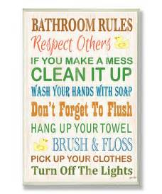Printable Bathroom Rules Sign