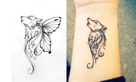 Heulender Wolf Auf Dem Unterarm-tattoovorlagen