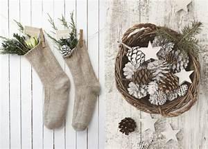 Deco Bois Et Blanc : 20 inspirations pour une d co de no l aux teintes naturelles joli place ~ Melissatoandfro.com Idées de Décoration