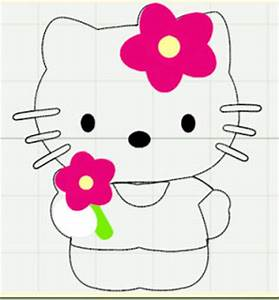 hello kitty cut outs With hello kitty cut out template