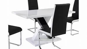 Esstisch Weiß Schwarz : esstisch xenia 140x80 mdf schwarz wei hochglanz lackiert ~ Whattoseeinmadrid.com Haus und Dekorationen