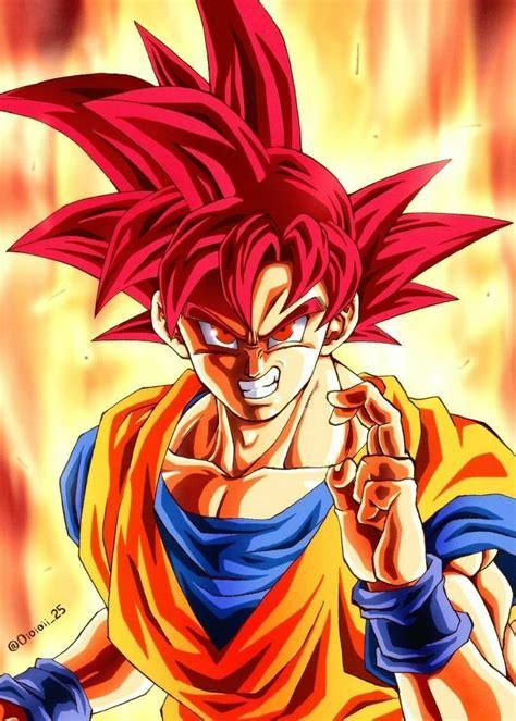 Goku SSJG Goku desenho Goku super saiyajin deus Anime