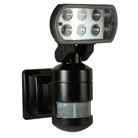 nightwatcher security 220 degree outdoor black motorized