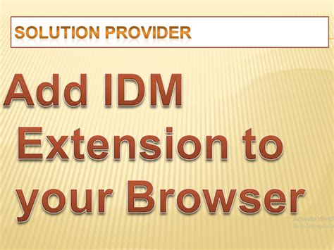Idm is the most powerful internet download manager so far that is being used by millions of users across the world. how to add idm extension to browser chrome mozilla firefox ...
