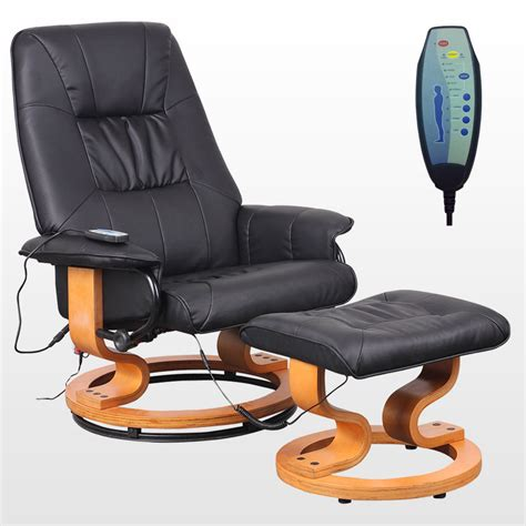 massaging office desk chair tuscany real leather black swivel recliner massage chair w