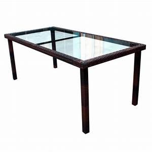 Table De Jardin En Resine Tressée : table de jardin 192 cm en r sine tress e marron wood en stock ~ Teatrodelosmanantiales.com Idées de Décoration