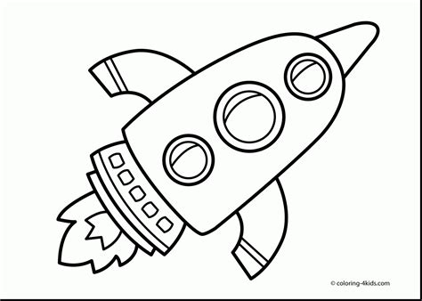 Astronaut Clipart Coloring Page Pencil And In Color