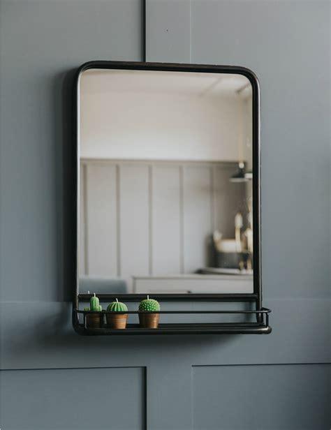 Mirror Shelf Bathroom by Large Industrial Mirror With Shelf Bathrooms Bathroom