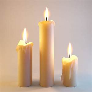 3d, Model, Three, Melted, Candles