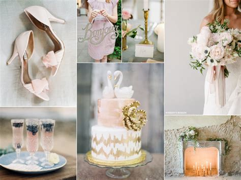 Whimsical Blush Pink And Gold Wedding