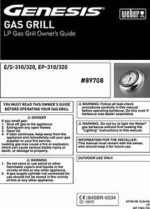 Weber Genesis Ep 310 320 Users Manual 89708 Gb