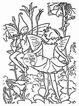 Coloring Fairy Flower Fairies Printable Colouring Columbine Wuppsy Sheets Alphabet Fiend Printables sketch template