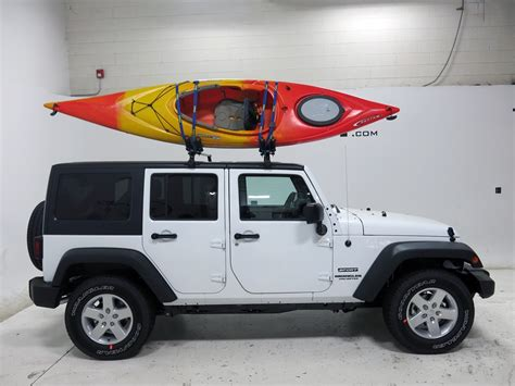 jeep wrangler kayak rack 2015 jeep wrangler unlimited thule hull a port kayak