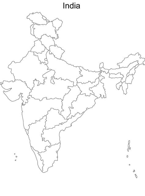 map  india  names blank political map  india