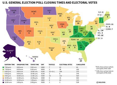 heure de fermeture des bureaux de vote usa 2016 heures de fermeture des bureaux de vote etat par etat actualit 233 des march 233 s investir