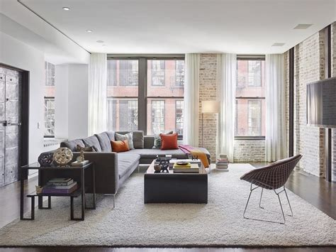 curtains ceiling to floor living room industrial with