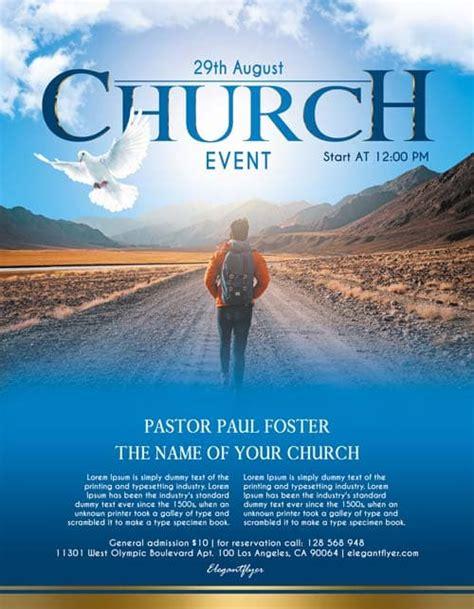 church event  flyer psd template