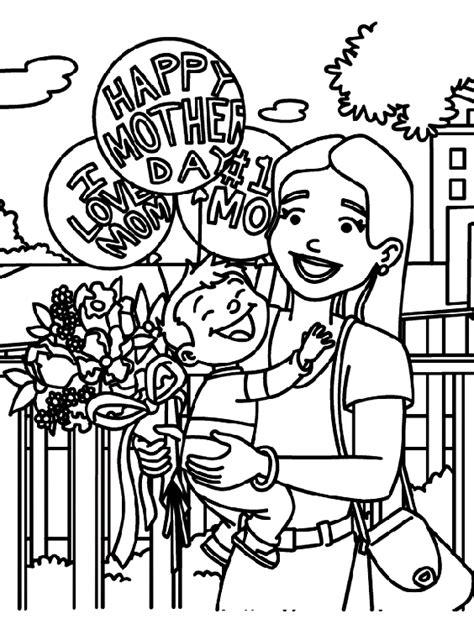 celebrating mom coloring page crayolacom