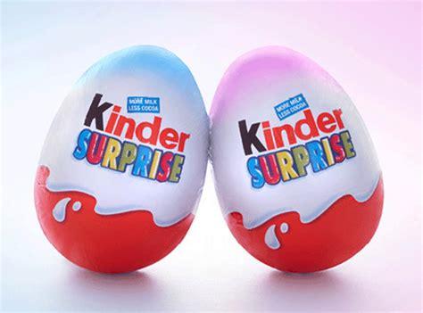 ferrero launches blue  pink kinder eggs