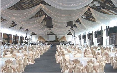 how to drape a ceiling for wedding reception sheets on ceiling basement play room