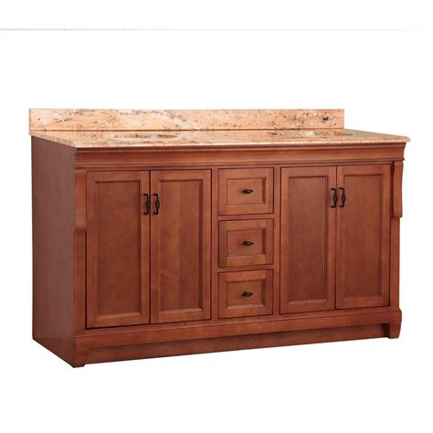 foremost naples 61 in w x 22 in d vanity in warm