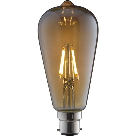 tcp vintage led bulb filament st64 4w b22 at wilko