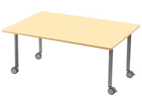 piètement 120 cm luge gris table plateau stratifie avec pietement en metal gris a
