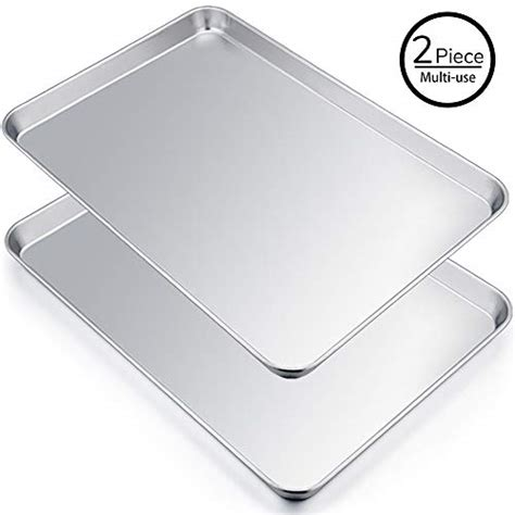 baking extra sheet sheets cookie stainless chef steel pan rectangle bakeware x1 x14 dishwasher oven capacity duty safe heavy