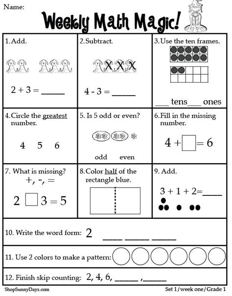 maths assessment worksheets year 1 them and try
