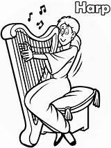 Coloring Music Pages Harp Notes Printable Sheets Sheet Activity Worksheets Print Kindergarten Instruments Decorations Clipartmag Advertisement Harpist Preschool Popular Coloringpagebook sketch template