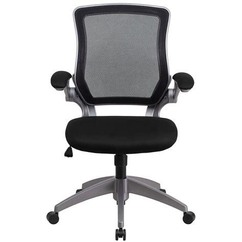ergonomic home mid back black mesh swivel task chair with