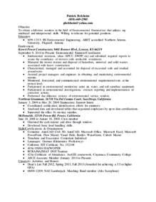 entry level engineering resume objective exles entry level environmental engineering resume 5