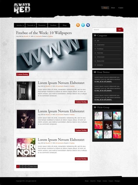 Create Website Layout in Photoshop - 50 Step-by-Step Tutorials