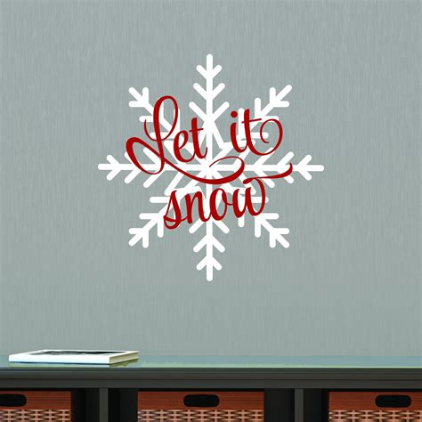 snow snowflake wall quotes decal wallquotescom