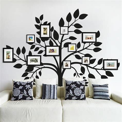 wall decoration stickers family photos tree wall sticker by sirface graphics
