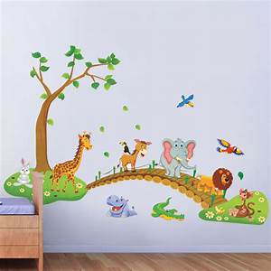aliexpresscom buy cartoon jungle wild animal wall With fantastic jungle theme wall decals for kids room