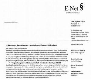 Payment Solution Rechnung : vorsicht betrug 1 mahnung der e net payment group aus bremen ~ Themetempest.com Abrechnung