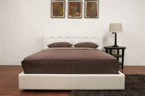 Exotic Leather Platform And Headboard Bed San Antonio