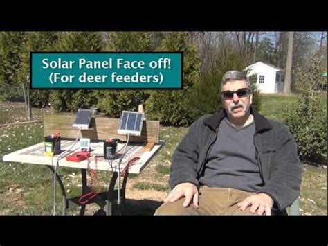 12 Volt Deer Feeder Wiring Diagram by 6v Solar Panels Test Review For Deer Feeders