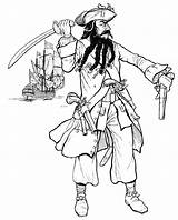 Pirate History Blackbeard Caribbean Pirates Beard Coloring Pages sketch template